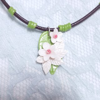 Fresh flowers style necklace clavicle