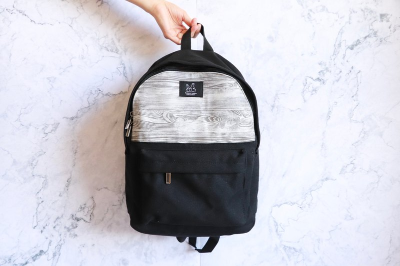 Backpack - white wood grain