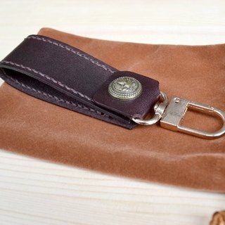 Opening big promotion leather vegetable tanned leather pure hand made key hook key ring car key ring