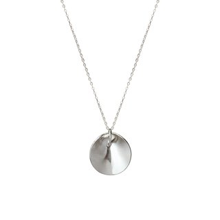 Double-sided circular silver necklace (two wearing law)