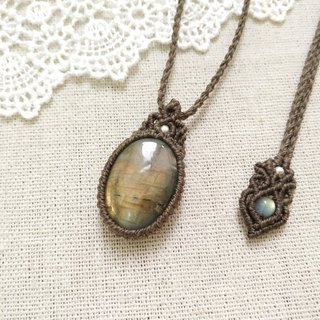 BUHO hand-made. Golden land. Ikki Labradorite X South American Brass Necklace