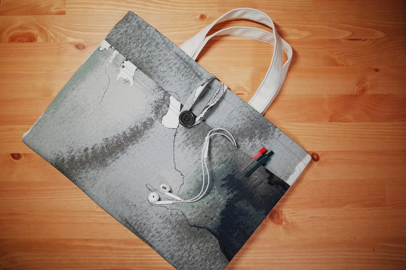 Ink fragrance. Abstract ink laptop bag / tote bag / laptop tote [size can be customized]