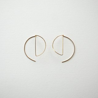 Circle shape pierce 14kgf circle earrings