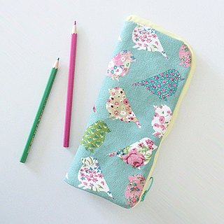 Standing Pen Case (Pastel Green Birds)