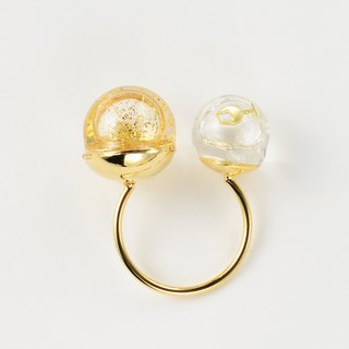 W glass dome ring