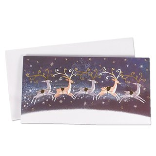 Elk Shining Starry Christmas Box Card 10 into [Ling Design-Card Christmas Series]