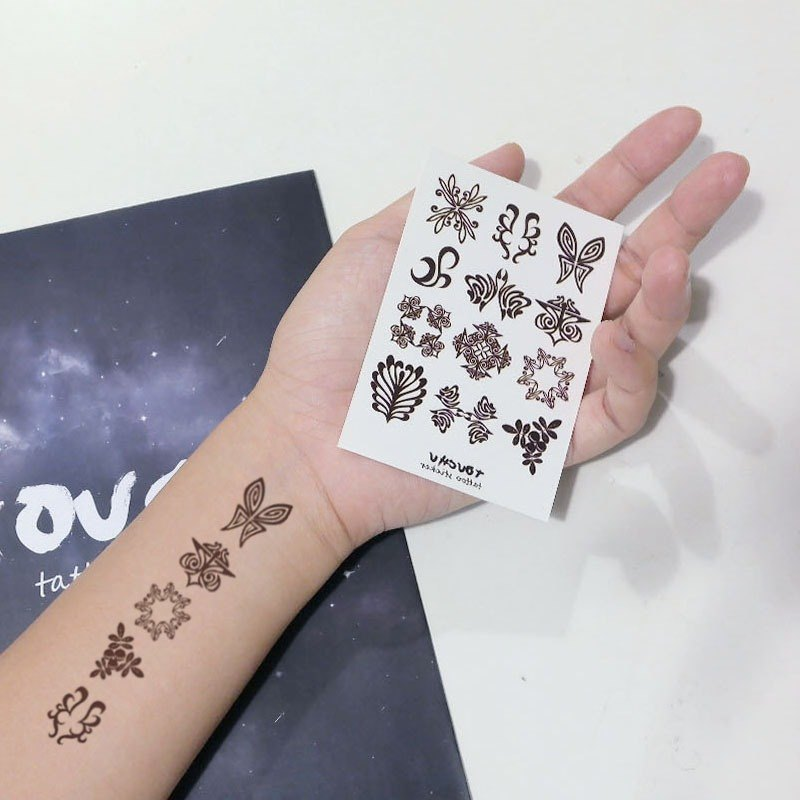 TU tattoo sticker, -12 small icon collection / Tattoo / waterproof Tattoo / original / Tattoo Sticker