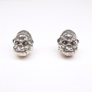 Ebony [orangutan Diamond Sterling Silver earrings] a pair