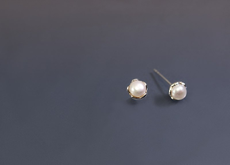 Natural Pearl 925 Silver Earrings (pair)
