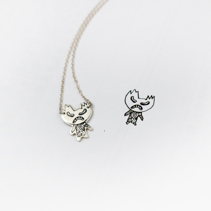 Upload your little child's picture / custom 925 sterling silver necklace