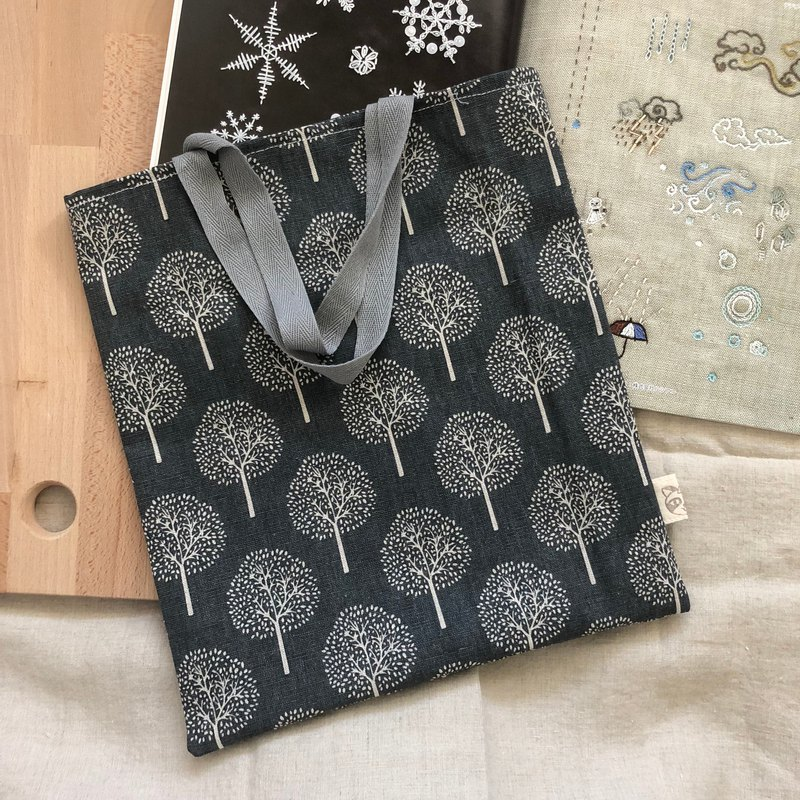 Simple tote bag/shopping bag  -  Trees / gray
