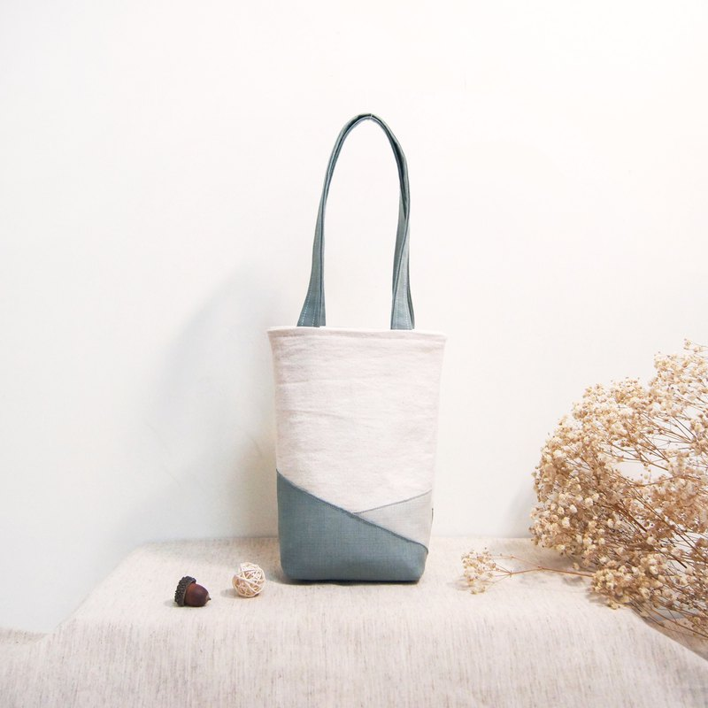 Natural original series color matching cotton cloth environmental protection beverage tote bag kettle bag-fairy gray