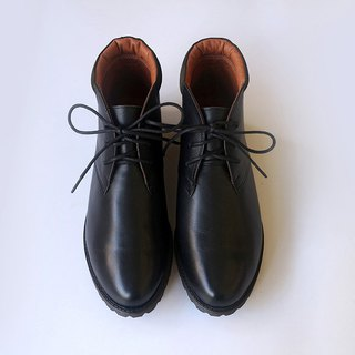 [Re-Engrave Time Machine] Oil Wax Moisturized Booties_Black