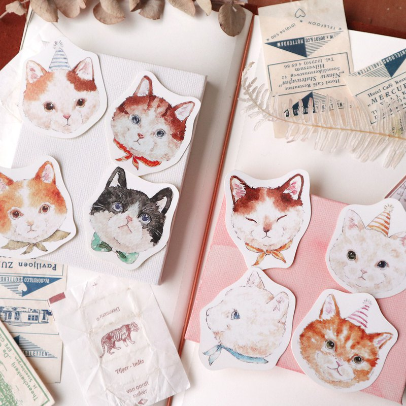 Animal Party - Cat Cat 8 Into Sticker Set