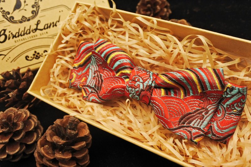 Original Handmade Bow Tie Chinese Style Exquisite Embroidery Multicolor Optional Christmas Gift Swing Dance
