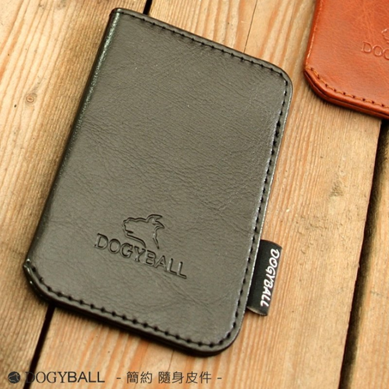 "[Dogyball] ""Exchange Gift"" Simple and Practical Banknote Card Business Card Holder Black"