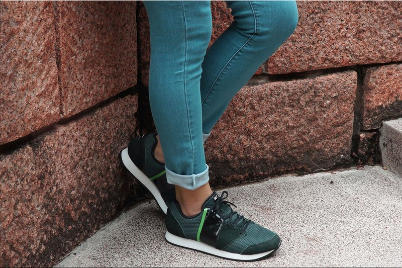 VPEP retro jogging shoes / V-Classic / forest green - light black - green / simple casual, classic fashion, breathable soft, VR06-07