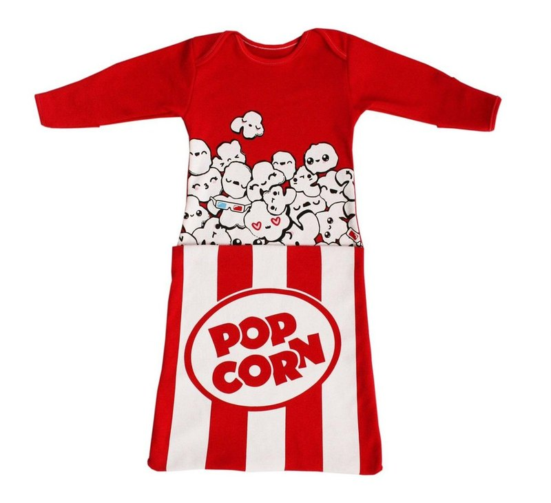 Happy Movie Time Popcorn Capsule 2-WAY Kickproof Sleeping Bag