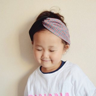 KIDS ◆ Triangle pattern x black or navy hairband