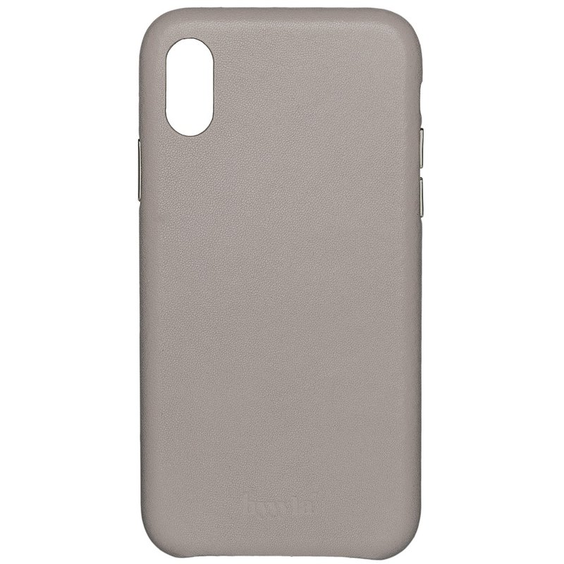 Hyyyla iPhone X/XS light gray leather phone case [customizable English name]