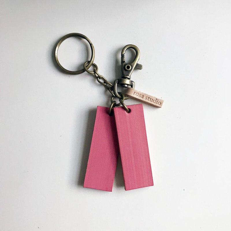 Leather key ring │ blush powder SAC01001
