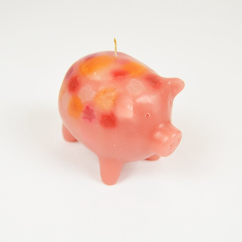 Candy pig hand candle _ fair trade