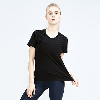 Copper Ammonia Comfort V-neck Tee - Black