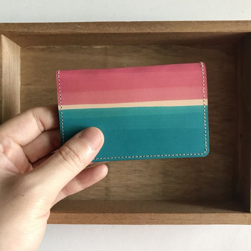 Credit Card Holder_Ultra Thin Mini Edition_Summer Seaside_Rouge Powder and Lyon Blue_Card holder