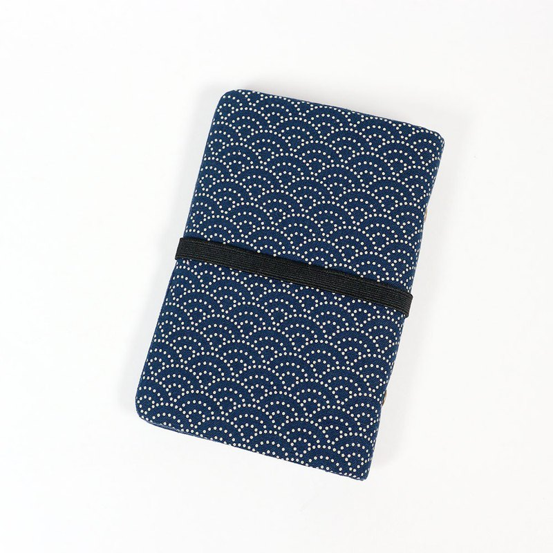 Passbook Card Business Card Passport Storage Book - Qinghai Wave (Blue)