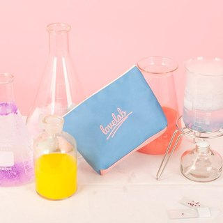Dear My Universe Love Lab Lettering Cosmetic Bag \ Small Bag - Light Blue