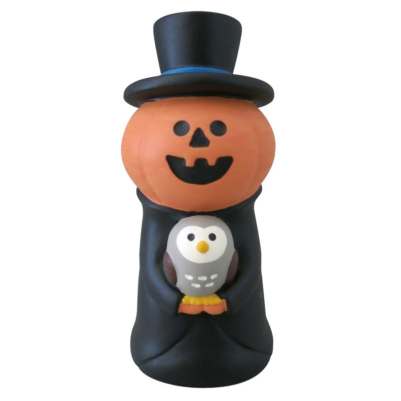 [Japan Decole] concombre Halloween limited edition ornaments - pumpkin man and owl