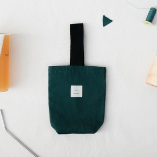 Insulated canvas beverage bag - Green