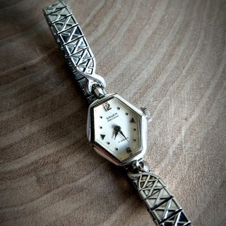 Gruen Antique Women's Watch 10K RGP BEZEL Diamond design elegant and noble worth collecting