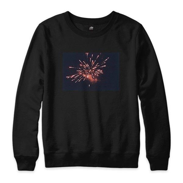 Fireworks  - 黑 - 中性版大學T