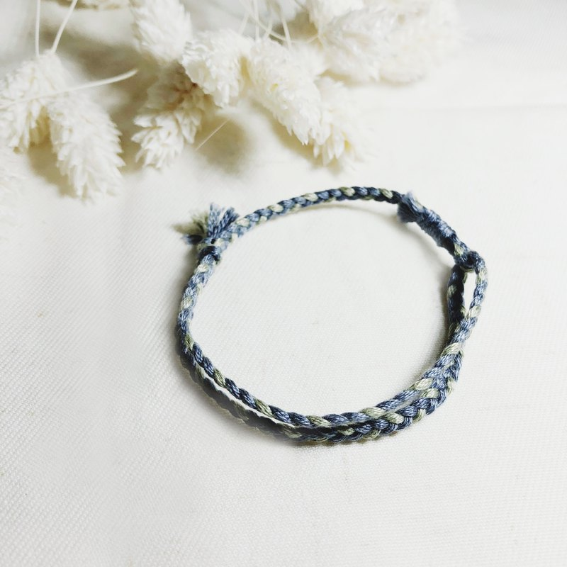 Shimmering Prayer! Lucky Bracelet #z21 Rattan Gray