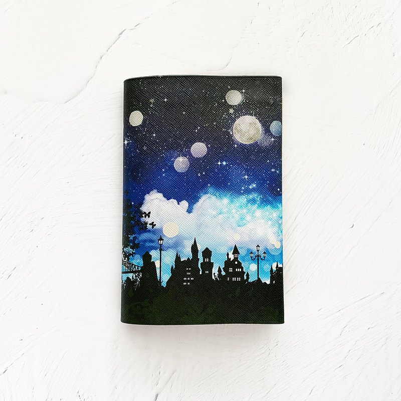 Book Cover Fantasy Night / paperback / Fake leather / starry sky / star / moon