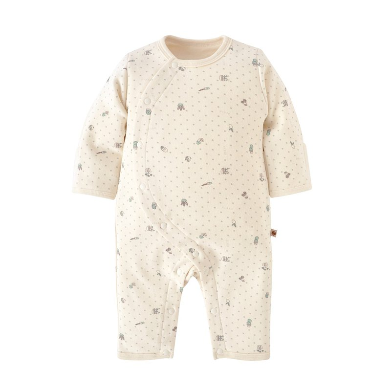 [SISSO Organic Cotton] 25% off for a limited time * Lining two-in-one rabbit suit (small green) 3M 6M 12M