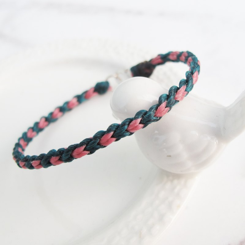 Big staff Taipa [manual] love × double color × wax rope bracelet can choose 2 color wax line