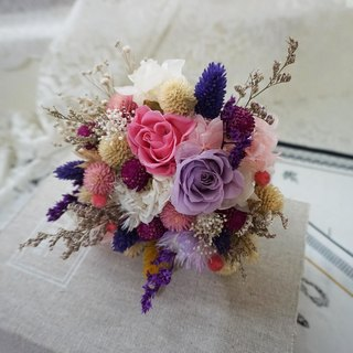 Amaranth mix of dried flowers - a small wedding gift bouquet bouquet*exchange gifts*Valentine's Day*wedding*birthday gift