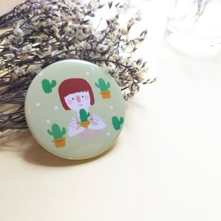 Cactus & Girl Badge