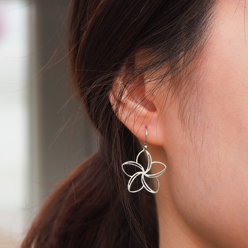 Frangipani stainless steel earrings