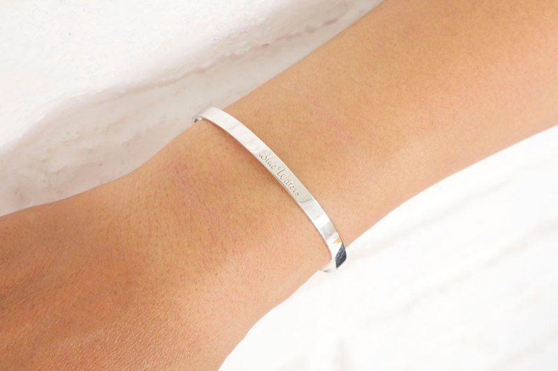 [Blue Waters] original simple sterling silver bangle