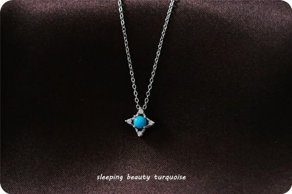 Blue Star Zen Sleeping Beauty Turquoise Necklace Guardian stone of life December birthstone
