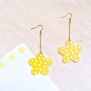 Swing fat stars / earrings
