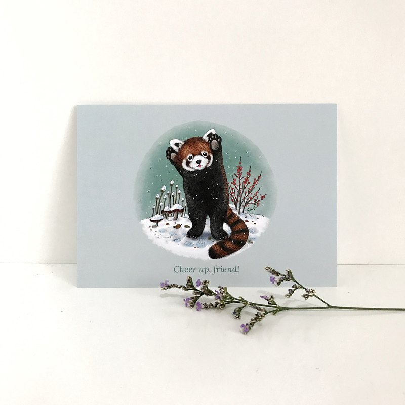 Red Panda Postcard - Cheer up, friend!