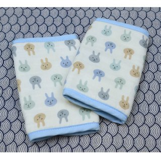 Japanese LUCKY Saliva Pad (Auspicious Rabbit - Blue)