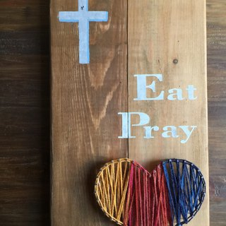 [6618 yo tail] Eat Pray Love wooden wall ornaments handmade furnishings Gift