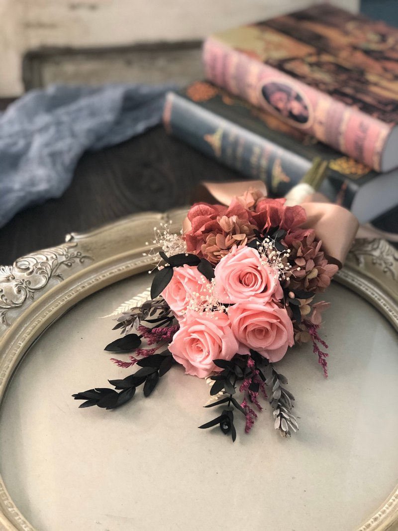 [Experience course]-April hand-made basic non-withered rose bouquet course [1 person into a group]