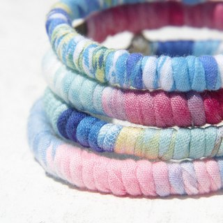 Christmas gift exchange gift hand twist cloth bracelet bracelet bracelet bracelet - rainbow color gradient layer sky