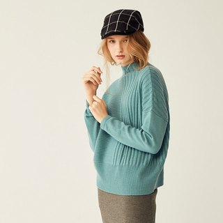 AEVEA boat-neck jacquard sweater